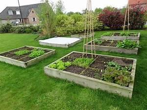 Carre De Jardin Potager : potager au carr cr ation organisation rotation ~ Premium-room.com Idées de Décoration