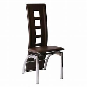 Un Dossier De Chaise : chaise delphine chocolat lot de 4 id 39 clik achat ~ Premium-room.com Idées de Décoration