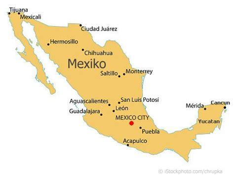 landkarte von mexiko