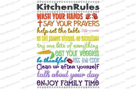 kitchen embroidery designs kitchen subway embroidery design 1596