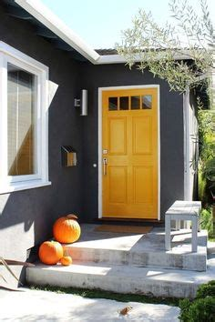 warm grey house purple door gray house inspiration