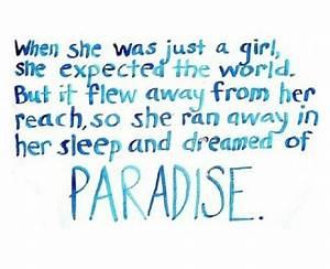 Paradise lyrics by Coldplay. | Music | Pinterest | Posts ...
