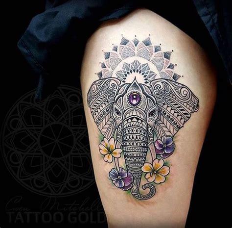 elephant mandala tattoo tattoos  interest