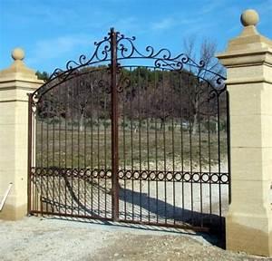 portail jardin fer portail battant acier sfrcegetel With portail de jardin en fer