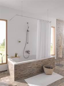 Duschvorhangstange Für Badewanne : duschvorhangstange als u form oder individuell f r eine ~ Watch28wear.com Haus und Dekorationen