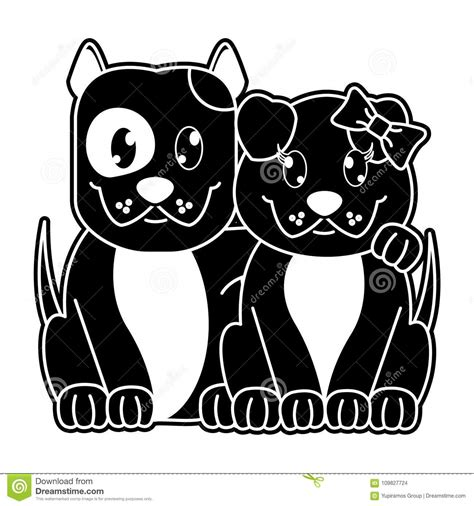 Other products you may like. Silhouette Couple Dog Cute Animal Together Stock Vector ...