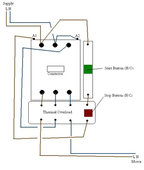 contactor wiring diagram start stop wiring diagram and