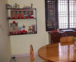 Pooja Room Designs in Living Room - Pooja Room Pooja