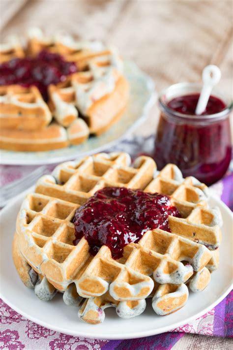 blackberry lemon waffles table    julie wampler
