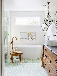 Hot, Look, 15, Ways, To, Brighten, Up, Rooms, With, Bold, Tile