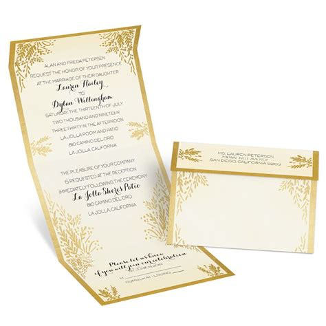 ferns  gold seal  send invitation anns bridal bargains