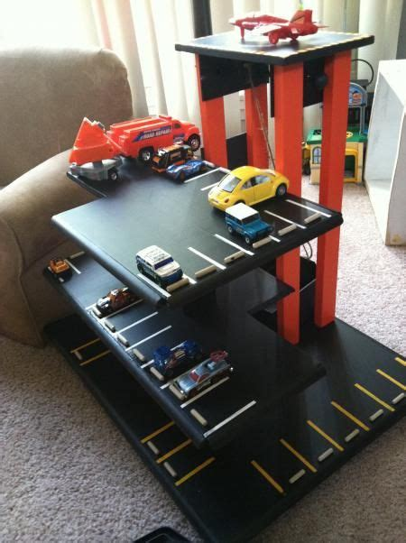 wooden play parking garage    home projects