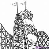 Coaster Roller Draw Step Drawing Dragoart Coloring Rollercoaster Pages Steps Coasters Imgs Healthy Easy Drawings Filling Snacks February Added 造訪 sketch template