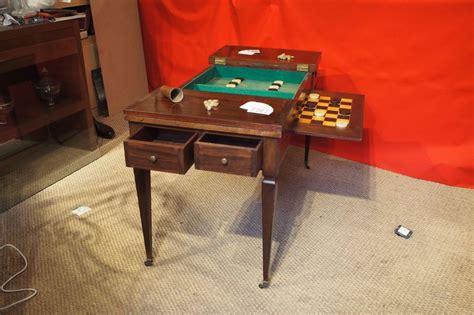 jeux de bureau table de jeux tric trac formant bureau plat