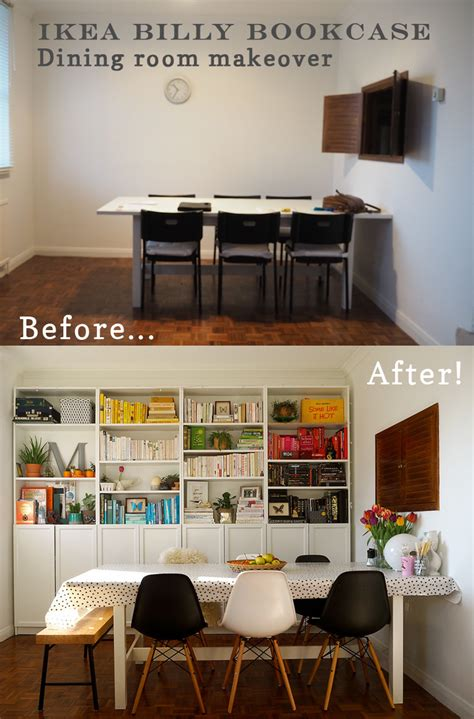 Bookcase In Dining Room by Interiors Transformation Ikea Billy Bookcase Dining Room