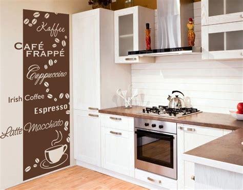 Tapeten Kuchengestaltung by Wandtattoo Tapete Kaffeesorten In 2019 Kitchen Living