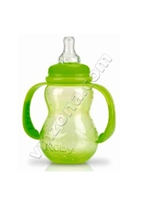 Nuby Non Liquid Bottle With Handles 210ml Id1092
