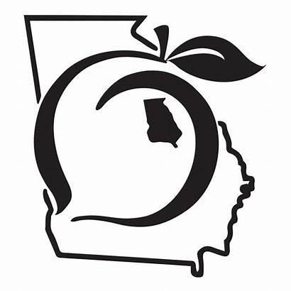 Georgia Peach State Decal Pride Sticker Clip