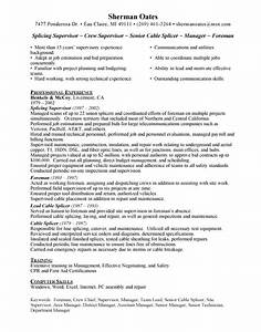 cable splicer free resumes With free job resume