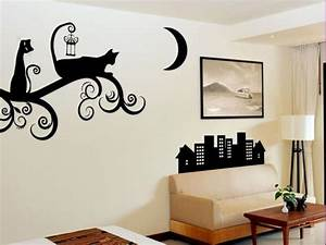 40 modern ideas for interior decorating with stencils for Interior wall painting ideas stenciling