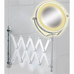 wenko miroir grossissant mural a led brolo miroir salle With miroir grossissant mural salle de bain