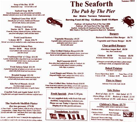 Menu Carte Restaurant Anglais by Infos Sur Carte Restaurant En Angleterre Arts Et Voyages