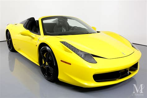 Painstakingly researched & updated for each model year. Used 2015 Ferrari 458 Spider Base 2dr Convertible For Sale ($164,996) | Metrolina Auto Group ...