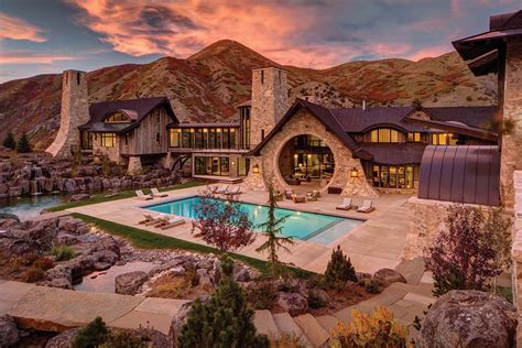 Kitchen Christmas Tree Ideas - insane mountain dream home with views of the wasatch range utah