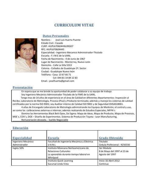 curriculumvitae espanol newhairstylesformencom