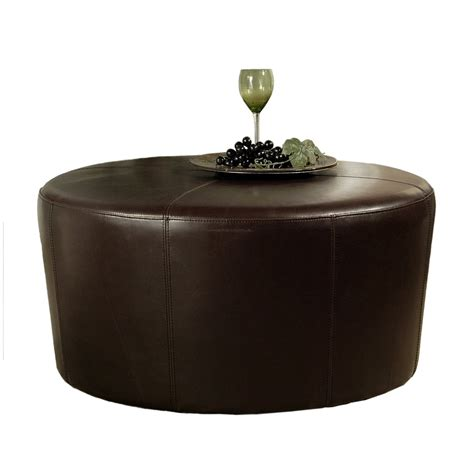 small round leather ottoman furniture adorable living room furniture decoration with