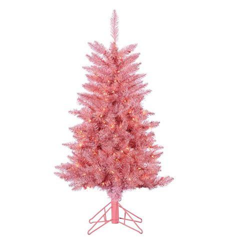 hillside 4ft pre lit cbrostmasf sterling 4 ft pre lit pink tuscany tinsel tree