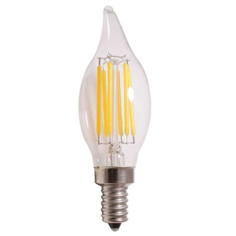 2w 3 5w 5w c32 filament led candle light with bent tip