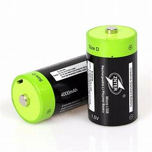 Znter 1 5v 4000mah Battery Micro Usb Rechargeable