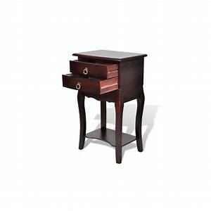 Tables De Chevet Pas Cher : table de chevet 2 tiroirs en brun achat vente table de chevet pas cher couleur et ~ Voncanada.com Idées de Décoration