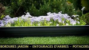 Bordure De Jardin : bordures jardin potagers et entourages d 39 arbres aluminium ~ Melissatoandfro.com Idées de Décoration