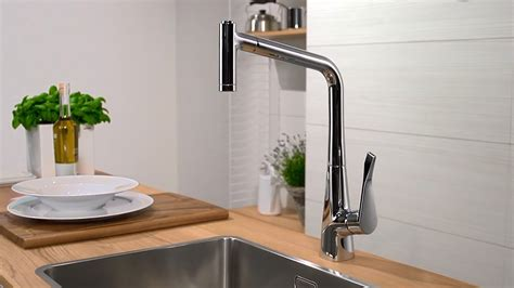 how to disconnect kitchen faucet hansgrohe metris single lever kitchen mixer 320 14820000