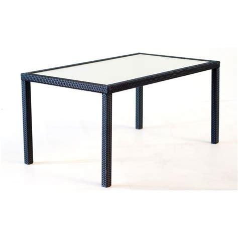 table de jardin en resine tressee table de jardin 192 cm en r 233 sine tress 233 e 8 personnes wood en stock
