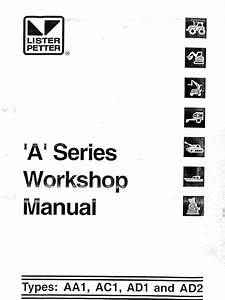 Lister Petter Ac1 Workshop Manual
