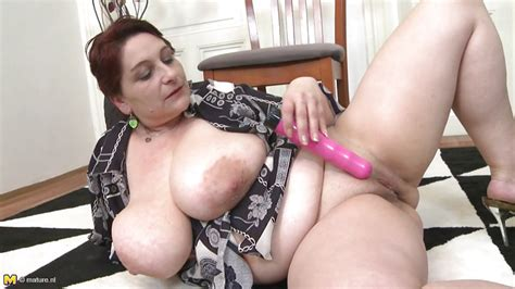 Gertruda In Horny Bbw Lady Playing With Her Huge Titties