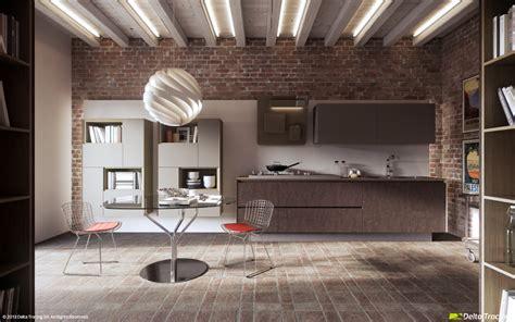 brickwall kitchen interior design ideas