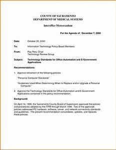 5 interoffice memorandum template lease template With internal office memo template