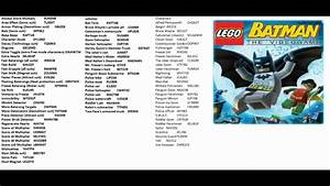 All Lego Batman The Videogame Cheat Codes Youtube