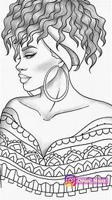 Coloring Colouring Portrait Adult Printable Pdf Drawing Zentangle Sketches Desenhos Realistic Outline Drawings Stress Anti Sheet African Sheets Faces Colorir sketch template