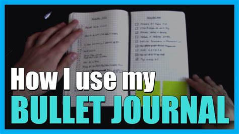 How I Use My Bullet Journal Youtube
