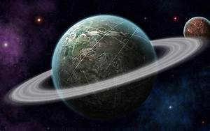 Fantasy Planets With Rings - Pics about space