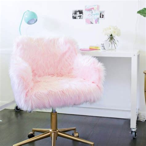 Pink Fur Chair by Office Chairs Chairs And Offices On Pinterest