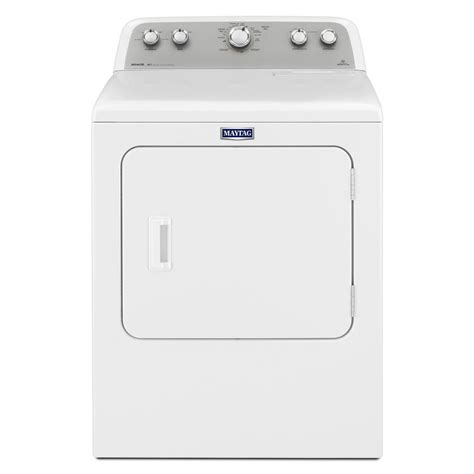 shop maytag 7 cu ft electric dryer white at lowes com