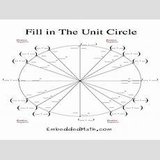 Unit 7 (3rd & 4th Block)  Trigonometry & The Unit Circle  Ms  Free Printable Worksheets