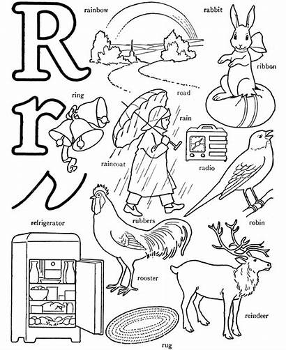 Coloring Pages Letter Words Alphabet Rainbow Printable