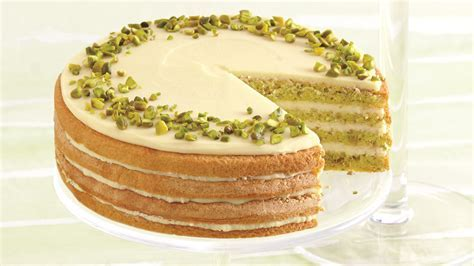 Sicilian Pistachio Cake with Lemon Syrup and White